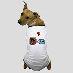 Kawaii donut and coffee cup Dog T-Shirt