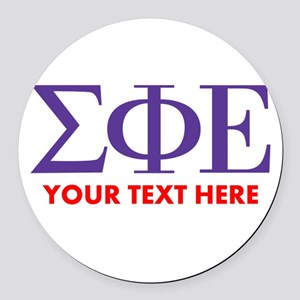 Sigma Phi Epsilon Personalized Round Car Magnet