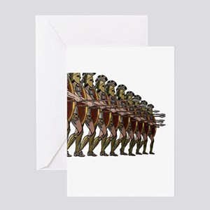 WARRIORS Greeting Cards