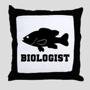 Biologist (fish) Throw Pillow