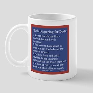 Cloth Diaper Instructions for Mug