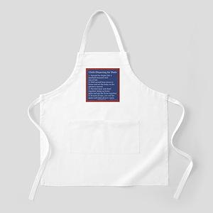 Cloth Diaper Instructions for BBQ Apron