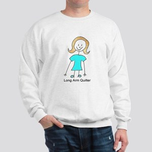 stick quilter w text lg Sweatshirt