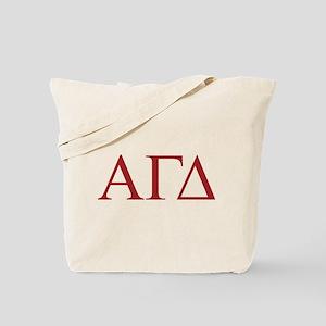 Alpha Gamma Delta Letters Tote Bag