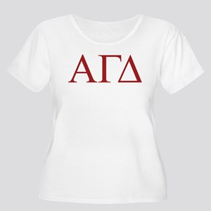 Alpha Gamma D Women's Plus Size Scoop Neck T-Shirt