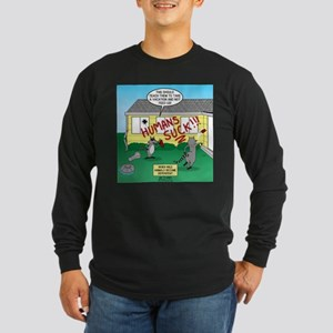 Raccoon Revenge Long Sleeve Dark T-Shirt