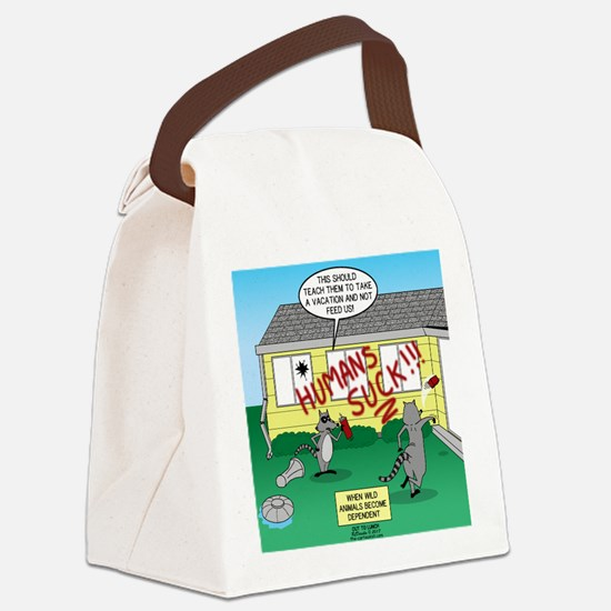 Raccoon Revenge Canvas Lunch Bag