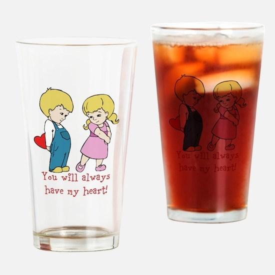 Boy and Girl Valentines Heart Message Design Drink