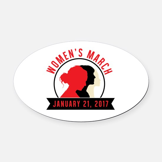 Cool Womens holiday Oval Car Magnet
