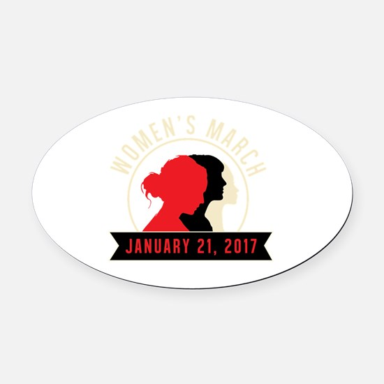 Unique Womens holiday Oval Car Magnet