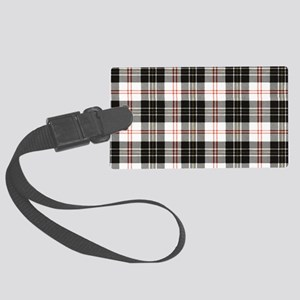 Rustic Plaid Pattern: Red Large Luggage Tag