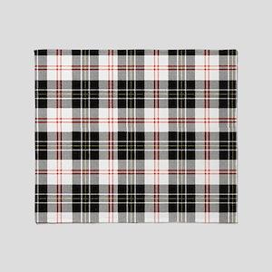 Rustic Plaid Pattern: Red Throw Blanket