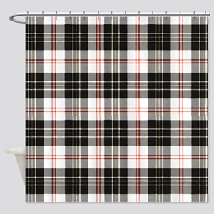 Rustic Plaid Pattern: Red Shower Curtain