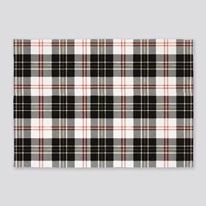 Rustic Plaid Pattern: Red 5'x7'Area Rug