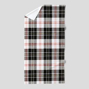 Rustic Plaid Pattern: Red Beach Towel