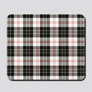 Rustic Plaid Pattern: Red Mousepad