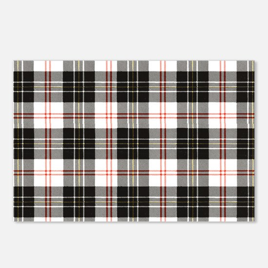 Rustic Plaid Pattern: Red Postcards (Package of 8)