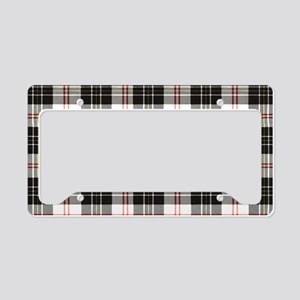 Rustic Plaid Pattern: Red License Plate Holder