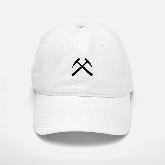 Crossed Rock Hammers Baseball Baseball Cap