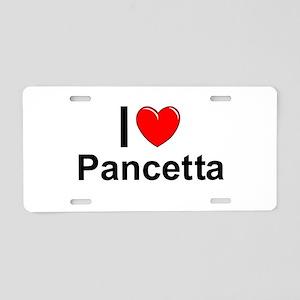 Pancetta Aluminum License Plate