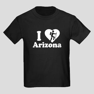 Love Hiking Arizona Kids Dark T-Shirt