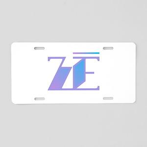 Ze - Ze Blue Purple Aluminum License Plate