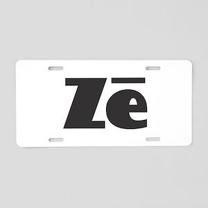 Ze - Ze Black Aluminum License Plate