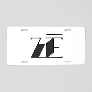 Ze - Black Modern Aluminum License Plate