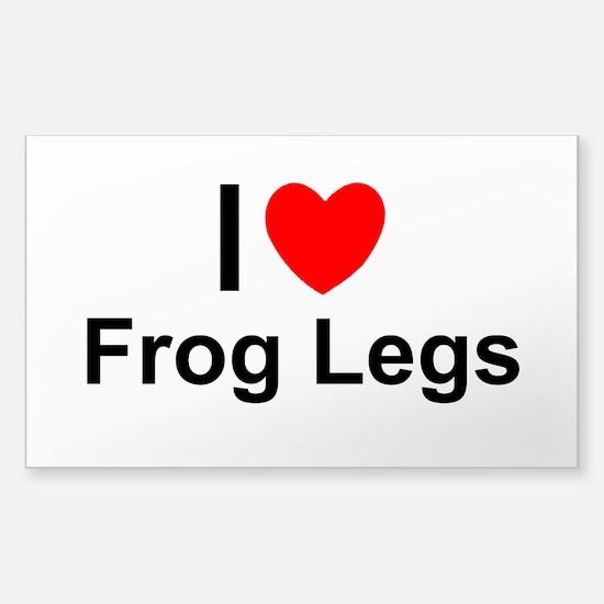 Frog Legs Sticker (Rectangle)