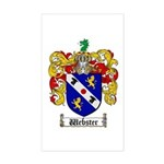 Webster Coat of Arms Rectangle Sticker