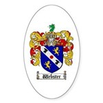 Webster Coat of Arms Oval Sticker