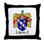 Webster Coat of Arms Throw Pillow