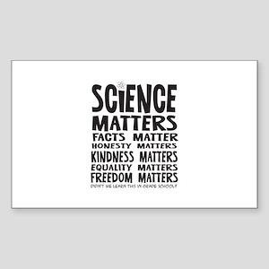 Science Matters Facts Matter Sticker