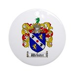Webster Coat of Arms Ornament (Round)