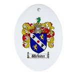 Webster Coat of Arms Oval Ornament