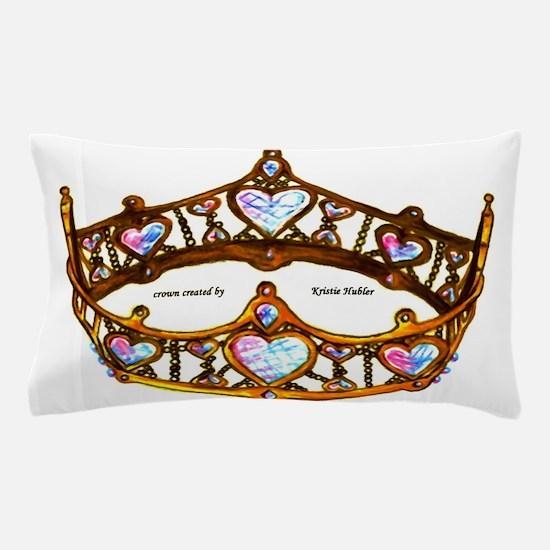 Queen of Hearts gold crown tiara heart shape diamo