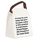 Reagan Quote Canvas Lunch Bag