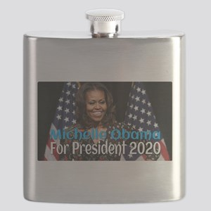 Michelle Obama For President 2020 Flask