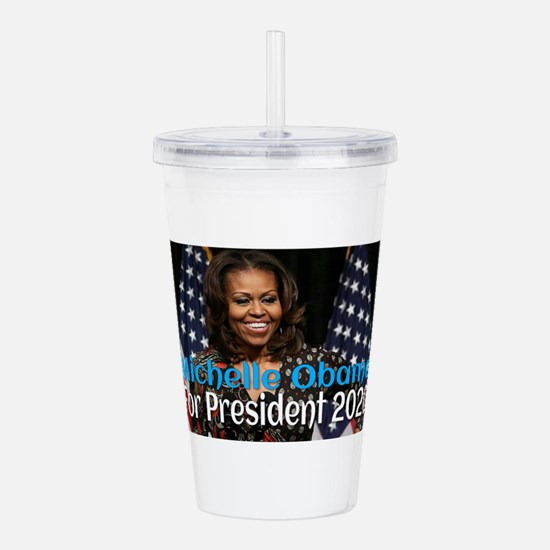 Michelle Obama For Pre Acrylic Double-wall Tumbler