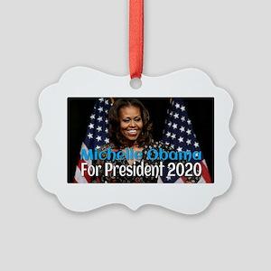 Michelle Obama For President 2020 Picture Ornament