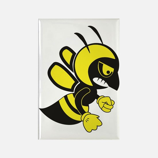 Unique Angry bees Rectangle Magnet