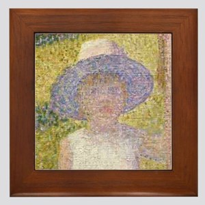 Cameron's Girl from La Grande Framed Tile