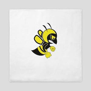 flying hell bee Queen Duvet