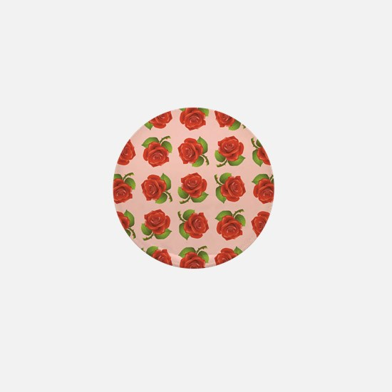RED ROSES Mini Button
