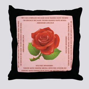 LINCOLN QUOTE Throw Pillow