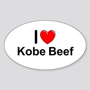 Kobe Beef Sticker (Oval)
