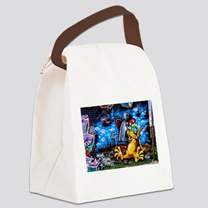 Ganja Graffiti Canvas Lunch Bag