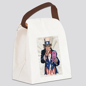 President Trump You're Fired Canvas Lunch Bag