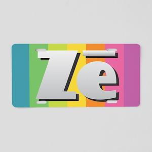 Ze - Rainbow Aluminum License Plate