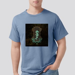 Awesome chinese dragon, vintage design, green colo